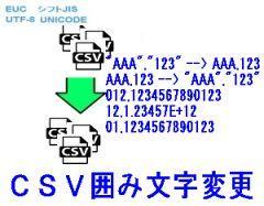 CSV囲み文字変更ロゴ
