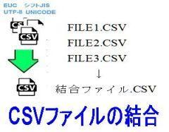 CSVファイルの結合ロゴ