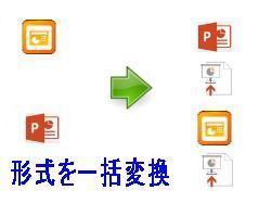 パワーポイントファイルの一括形式変換