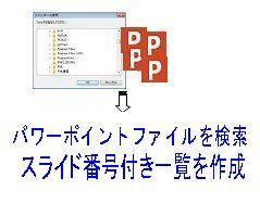 複数パワーポイントファイルに渡る検索