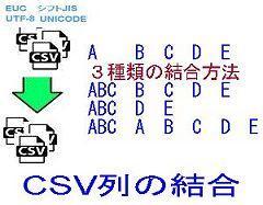 CSV列の結合ロゴ