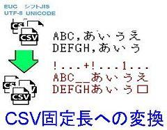 CSV固定長への変換