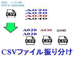 CSVファイル振り分け