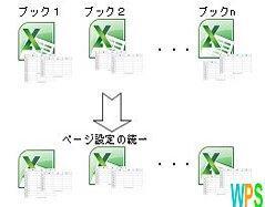 複数ブックのページ設定ロゴ