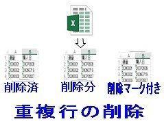 Excelブックの重複行削除